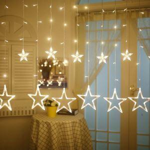 LEDイルミネーションライト LEDストリングライト 星型照明 防水 40灯 パーティー 祝日飾り