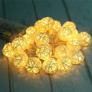 LEDイルミネーションライト LEDストリングライト 球型照明 防水 電池式 20灯 パーティー 祝日飾り