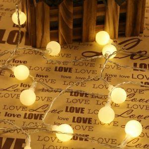 LEDイルミネーションライト LEDストリングライト 球型照明 防水 電池式 100灯 パーティー 祝日飾り