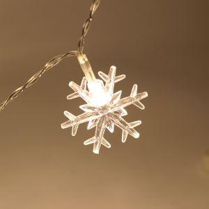 LEDイルミネーションライト LEDストリングライト 雪花型照明 防水 電池式 パーティー 祝日飾り