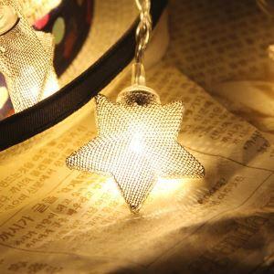 LEDイルミネーションライト LEDストリングライト 星型照明 防水 電池式 パーティー 祝日飾り