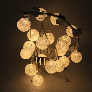 LEDイルミネーションライト LEDストリングライト 球型照明 防水 電池式 パーティー 祝日飾り
