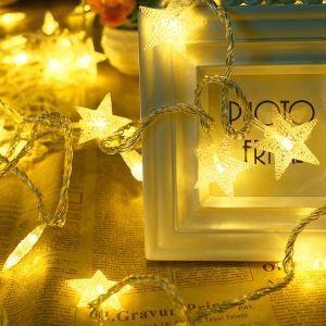 LEDイルミネーションライト LEDストリングライト 五角星型照明 防水 パーティー 祝日飾り