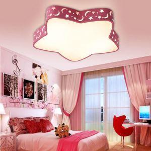LEDシーリングライト 照明器具 天井照明 リビング 居間 子供屋 店舗 オシャレ 星形 赤青 LED対応