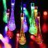 LEDイルミネーションライト LEDストリングライト ソーラーライト 雫型照明 防水 パーティー 祝日飾り