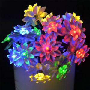 LEDイルミネーションライト LEDストリングライト ソーラーライト 蓮花型照明 防水 パーティー 祝日飾り