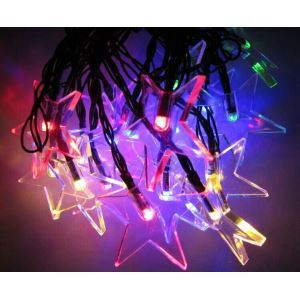 LEDイルミネーションライト LEDストリングライト ソーラーライト 星型照明 防水 パーティー 祝日飾り