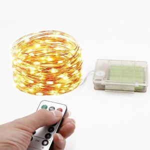 LEDイルミネーションライト LEDストリングライト 照明器具 電池式 パーティー 祝日飾り リモコン付