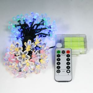 LEDイルミネーションライト LEDストリングライト 桃花型照明 電池式 パーティー 祝日飾り リモコン付