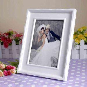 写真立て フォトフレーム 写真用額縁 インテリアフレーム フォトデコレーション 木製 1枚 白色