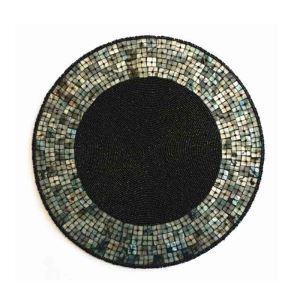 ランチョンマット プレースマット テーブルマット ビーズ編み 手作り シェル&ガラス玉 TL001