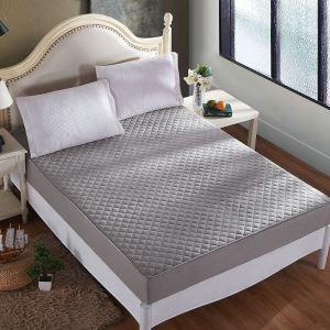 ボックスシーツ ベッドシーツ マットレスカバー ベッド用品 単品 四季 灰色 200*220cm B4008