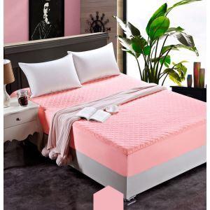 ボックスシーツ ベッドシーツ マットレスカバー ベッド用品 単品 四季 ピンク 200*220cm B4010