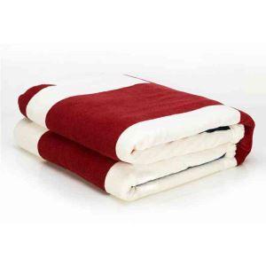 毛布 ブランケット コーラルフリース ひざ掛け 肩掛け 厚地 イギリス国旗柄 灰色 130*160cm