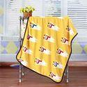 毛布 ブランケット フランネル毛布 ベビーバスタオル ひざ掛け 肩掛け 赤ちゃん用 子猫柄 4色 75*100cm