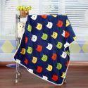 毛布 ブランケット フランネル毛布 ベビーバスタオル ひざ掛け 肩掛け 赤ちゃん用 子猫柄 75*100cm