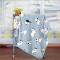 毛布 ブランケット フランネル毛布 ベビーバスタオル ひざ掛け 肩掛け 赤ちゃん用 犬柄 2色 75*100cm
