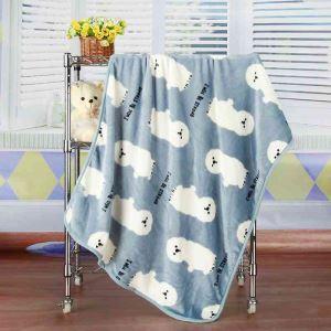 毛布 ブランケット フランネル毛布 ベビーバスタオル ひざ掛け 肩掛け 赤ちゃん用 犬柄 3色 75*100cm
