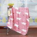 毛布 ブランケット フランネル毛布 ベビーバスタオル ひざ掛け 肩掛け 赤ちゃん用 ホッキョクグマ柄 3色 75*100cm