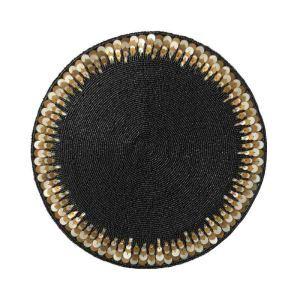 ランチョンマット プレースマット テーブルマット ビーズ編み 手作り スパンコール&ガラス玉 TL002
