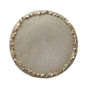ランチョンマット プレースマット テーブルマット ビーズ編み 手作り シェル&ガラス玉 白色 TL014