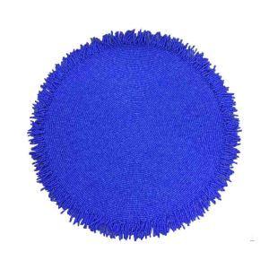 ランチョンマット プレースマット テーブルマット ビーズ編み 手作り ガラス玉 青色 TL018