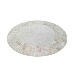 ランチョンマット プレースマット テーブルマット ビーズ編み 手作り シェル&ガラス玉 TL025