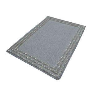 ランチョンマット プレースマット テーブルマット ビーズ編み 手作り ガラス玉 灰色 TL028