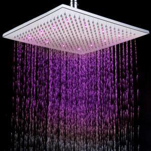 3色LEDヘッドシャワー シャワー水栓 30cm(0913-8106)