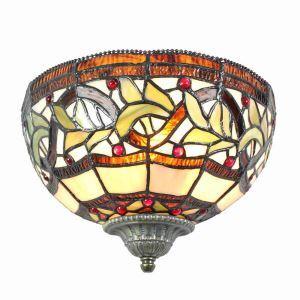 ステンドグラスランプ 壁掛け照明 ティファニーライト ブラケット 玄関照明 照明器具 1灯 10in WL107
