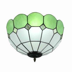 シーリングライト ステンドグラス照明 玄関照明 緑色 D40cm LTFM067