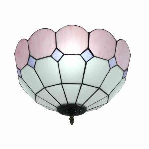 シーリングライト ティファニーライト ステンドグラス照明 玄関照明 ピンク D40cm LTFM069