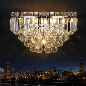 壁掛けライト ウォールランプ 照明器具 ブラケット 玄関照明 クリスタル 3灯