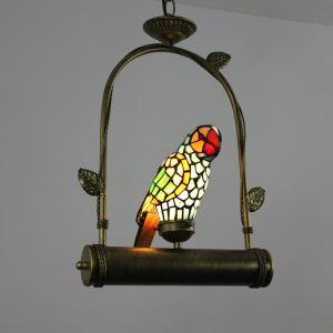 ティファニーライト ペンダントライト ステンドグラスランプ 照明器具 オウム型 1灯 LS18040