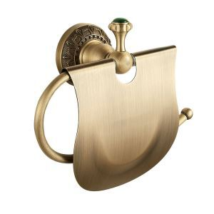 トイレットペーパーホルダー 紙巻器 バスアクセサリー 真鍮製 アンティーク調