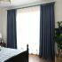 遮光カーテン オーダーカーテン 寝室 リビング 無地柄 純色 1級遮光カーテン(1枚)