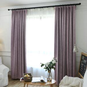 遮光カーテン オーダーカーテン 寝室 リビング 無地柄 純色(1枚)
