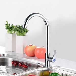 キッチン水栓 台所蛇口 単水栓 水道蛇口 水栓金具 クロム