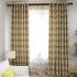 遮光カーテン オーダーカーテン 寝室 リビング ポリエステル 横縞柄 現代風 1級遮光カーテン(1枚)