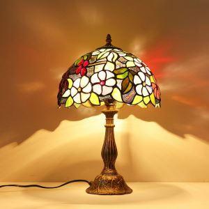 テーブルランプ ステンドグラスランプ ティファニーライト 卓上照明 間接照明 1灯 D30cm TL179