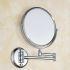 室内用ミラー 壁掛け化粧鏡 浴室収納 拡大鏡付き スイング可能 クロム