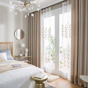 遮光カーテン オーダーカーテン 寝室 リビング 純色 エコ生地 麻(1枚)