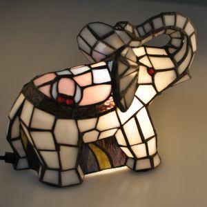 テーブルランプ ティファニーライト ステンドグラスランプ 枕元スタンド ナイトライト 象型 1灯