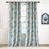遮光カーテン オーダーカーテン 寝室 リビング 現代 捺染 青色 1級遮光カーテン(1枚)