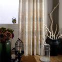 遮光カーテン オーダーカーテン 刺繍 エコ生地 綿麻 和風(1枚)