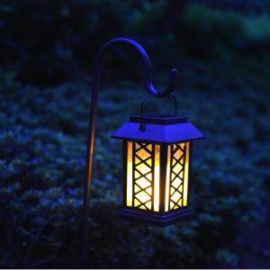 LEDソーラーライト LEDキャンドル ガーデンライト 庭園灯 ランタンライト LEH55154G