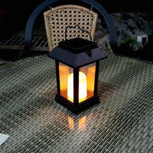 LEDソーラーライト LEDキャンドル ガーデンライト 庭園灯 ランタンライト LEH55142
