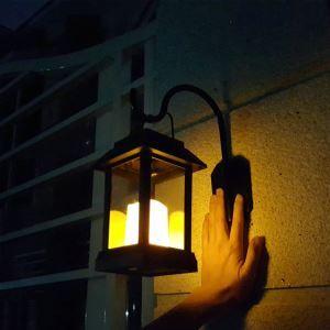 LEDソーラーライト LEDキャンドル ガーデンライト 庭園灯 ランタンライト LEH55143W