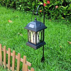 LEDソーラーライト LEDキャンドル ガーデンライト 庭園灯 ランタンライト LEH55142G
