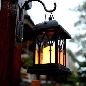 LEDソーラーライト LEDキャンドル ガーデンライト 庭園灯 ランタンライト LEH55142W
